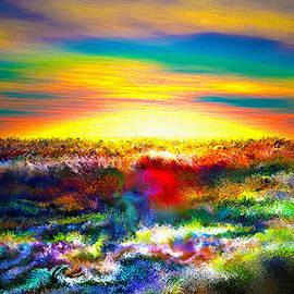 Rebecca Phillips - A Rainbow Paisley sunrise V.3