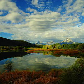 Jeff  Swan - A Reflective View Of The Tetons