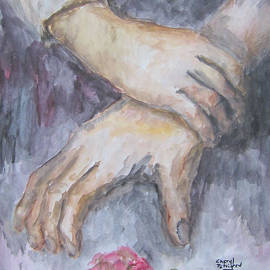 Cheryl Pettigrew - A Study of Hands With A Rose