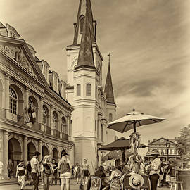 Steve Harrington - A Sunny Afternoon in Jackson Square sepia
