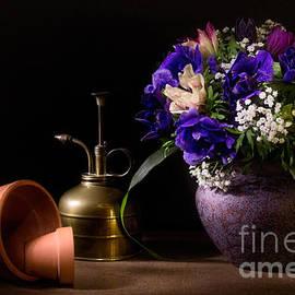 Ann Garrett - A Vase of Anemones