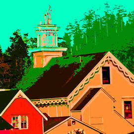Joseph Coulombe - A View of a Church in Mendocino