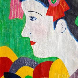 Taikan Nishimoto - A Girl In Kyoto by Taikan Nishimoto
