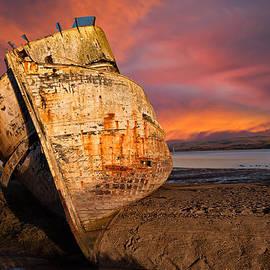 Kathleen Bishop - Abandoned Fishing Boat at Inverness