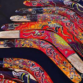 Kaye Menner - Aboriginal Boomerang Art
