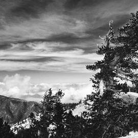 Jerry Cowart - Above the Winter Clouds in Mountain Snow Original Black and White Fine Art Photography