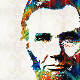 Sharon Cummings - Abraham Lincoln Art - Colorful Abe - By Sharon Cummings