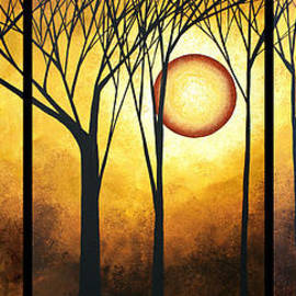 Megan Duncanson - Abstract Art Original Landscape GOLDEN HALO by MADART