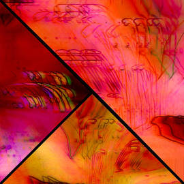 Susan Maxwell Schmidt - Abstract Azalea Triptych Collage