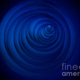 Jennifer Page - Abstract Blue Focus