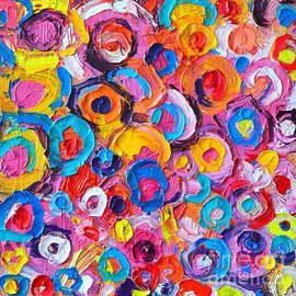 Ana Maria Edulescu - Abstract Colorful Flowers 2 - Paint Joy Series