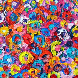 Ana Maria Edulescu - Abstract Colorful Flowers 3 - Paint Joy Series