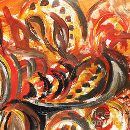 Irina Sztukowski - Abstract Khokhloma Floral Design Autumn Leaves