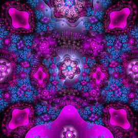 Matthias Hauser - Abstract fractal ornament pink and blue