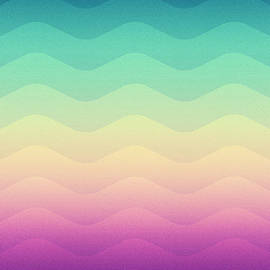 Philipp Rietz - Abstract Geometric Candy Rainbow Waves Pattern Multi Color
