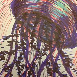 Noah Babcock - Abstract jellyfish in ink