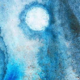 Sharon Cummings - Abstract Landscape Art - Blue Moon - By Sharon Cummings