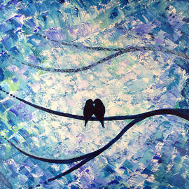 Tim Leung - Abstract Love birds