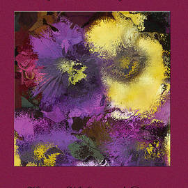 Andrew Govan Dantzler - Abstract Pansy Valentine Card