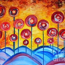 Ramona Matei - Abstract Red Symphony
