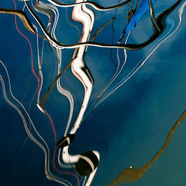 Jani Freimann - Abstract Sailboat Mast Reflection