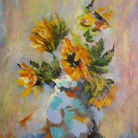 Madeleine Holzberg - Abstract Sunflowers
