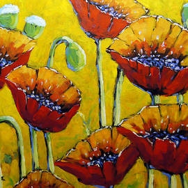 Richard T Pranke - Abstract Sweet Poppies by Prankearts