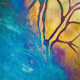Priya Ghose - Fire And Ice Abstract Tree Art
