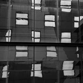 Dave Gordon - Abstract Window Reflections - NYC BW