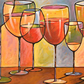 Amy Giacomelli - Abstract Wine Art ... Whites and Reds