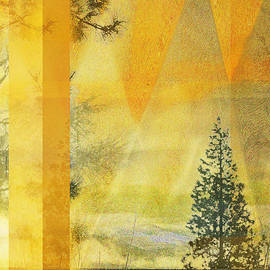 Faye Cummings - Abstract Yellow Orange Landscape