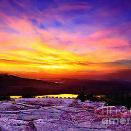Bob and Nadine Johnston - Acadia National Park Cadillac Mountain Sunrise ForSale