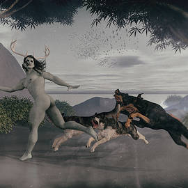 Joaquin Abella - Actaeon chased by their dogs.