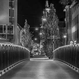 Adolf-Cluss-Bruecke - Heilbronn bei Nacht