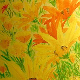 BD Nowlin - African Daisy Blackeyed Susan Mexican Poppies