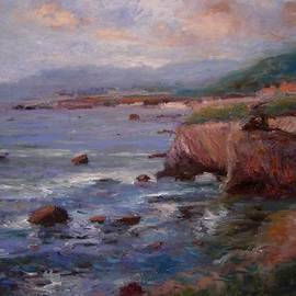 R W Goetting - Afternoon at Shell Beach sketch