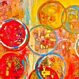 Anna Ruzsan - Against The Rain Abstract Orange