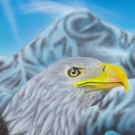 Christopher Soeters - airbrushed Bald eagle at Mount McKinley
