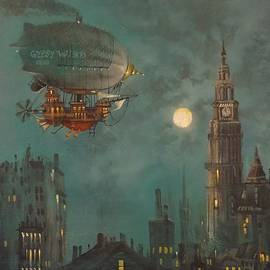 Tom Shropshire - Airship by Moonlight