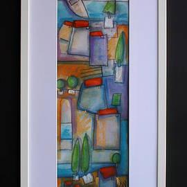 Saso  Petrosevski Novak - SPN - akvarel A1 watercolor 55x17cm uokvireno 74x36cm slobodan za prodaju kontaktirajte direktno autora