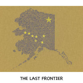 Tawnya Apuan - Alaska The Last Frontier Typography Map Poster