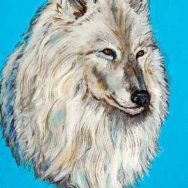 Nadine Johnston - Alaskan White Wolf Original ForSale