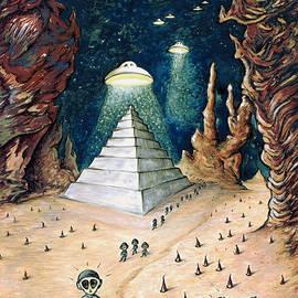Peter Fine Art Gallery  - Paintings Photos Digital Art - Alien Invasion - Space Art Painting