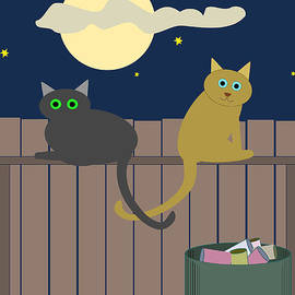 John Orsbun - Alley Cats on a Fence