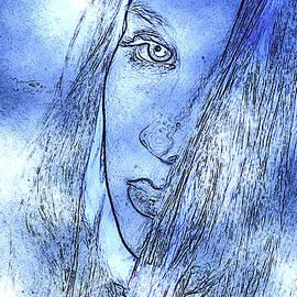 Andrew Govan Dantzler - Alluring Portrait in Blue