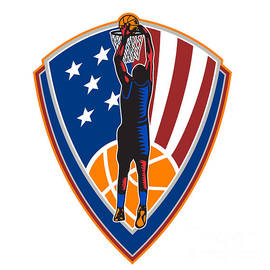 Aloysius Patrimonio - American Basketball Player Dunk Ball Shield Retro