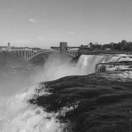 Richard Andrews - American Falls from Luna Island B n W