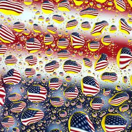 Paul Ge - American flag in water drops