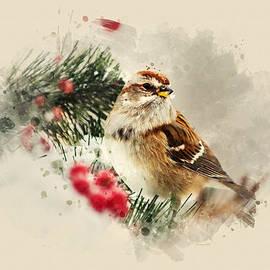 Christina Rollo - American Tree Sparrow Watercolor Art