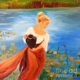 Monica  Cristea - Among the water lillies